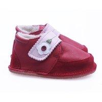 Barefoot fur boots - Red velvet