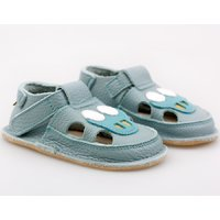 Barefoot kids sandals - Classic Blue Car