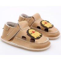 Barefoot kids sandals - Classic Cream Lion
