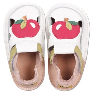 Barefoot kids sandals - Classic Delicious apple