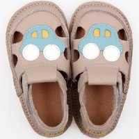 Barefoot kids sandals - Classic Grey Car