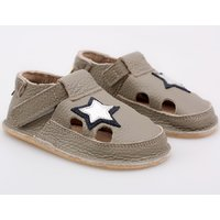 Barefoot kids sandals - Classic Grey Star