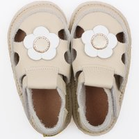 Barefoot kids sandals - Classic Nude Flower