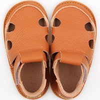 Barefoot kids sandals - Classic Orange