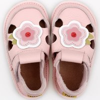 Barefoot kids sandals - Classic Pink Flower
