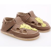 Barefoot kids sandals - Dino Brown