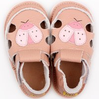 Barefoot kids sandals - Ladybug