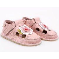 Barefoot kids sandals - Pink Flower