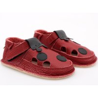 Barefoot kids sandals - Red Ladybug V2