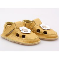 Barefoot kids sandals - Sunflower