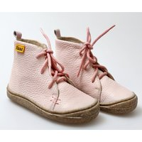 Barefoot leather boots - Beetle - Light Pink