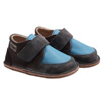 Barefoot leather boots - Happy Blue