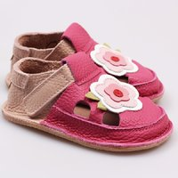 Barefoot kids sandals - May flowers