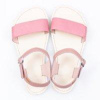 Adjustable strap sandals - Pink & Ivory