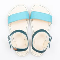 Adjustable strap sandals - Turquoise & Ivory - in stock