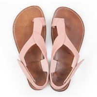 Barefoot toe loop sandals - Dusty Pink - in stock