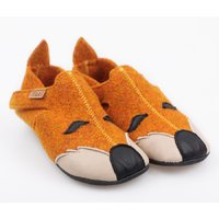 Felted wool shoes- Ziggy Fox 30-35 EU