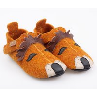 Felted wool shoes- Ziggy Lion 19-29 EU