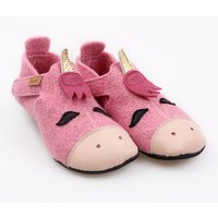 Felted wool shoes- Ziggy Unicorn 19-23EU