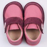 Ghete piele Barefoot - Cherry Buttons