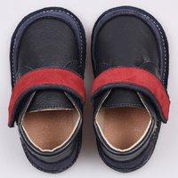 Ghete piele Barefoot - Red Navy