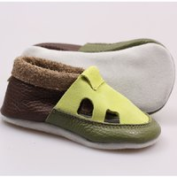 Multicolor soft shoes - Lime green