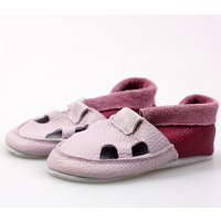 Multicolor soft shoes with holes - Lilac