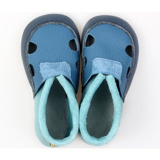 Multicolor soft shoes with holes - Ocean