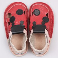 OUTLET - Barefoot kids sandals - Red ladybug