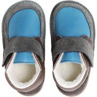 OUTLET - Ghete Barefoot cu lână - Happy Blue