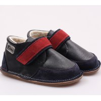 OUTLET - Ghete Barefoot cu lână - Red Navy