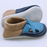OUTLET - Multicolor soft shoes - Cappucino & Turquoise