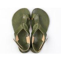 OUTLET - Sandale damă barefoot 'SOUL' -  Green