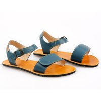 OUTLET - 'VIBE' barefoot women's sandals - Petrol Blue