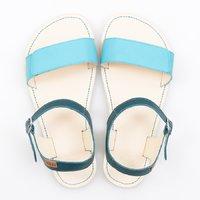 Sandale cu baretă ajustabilă - Turquoise & Ivory - în stoc