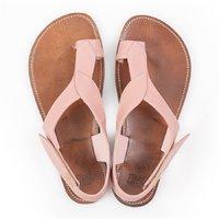 Sandale Barefoot cu baretă pe deget - Dusty Pink - în stoc