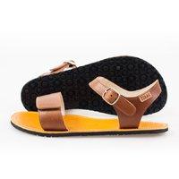 Sandale cu baretă ajustabilă - Brown & Yellow - în stoc