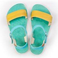 Sandale cu baretă ajustabilă - Lime & Teal - în stoc