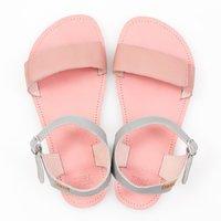 Sandale cu baretă ajustabilă - Pink & Grey - în stoc