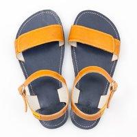 Sandale cu baretă ajustabilă - Yellow & Navy - în stoc