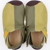 Soft soled shoes - Ziggy Green Duo 19-23EU