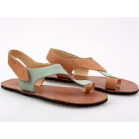 'SOUL' barefoot women's sandals - Mint Camel