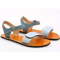 'VIBE' barefoot women's sandals - Bluette