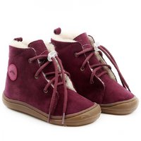 Water-repellent wool boots - Beetle Merlot 19-23 EU