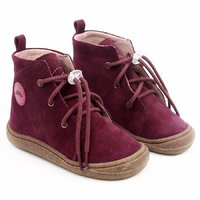 Water-repellent leather boots - Beetle Merlot 19-23 EU